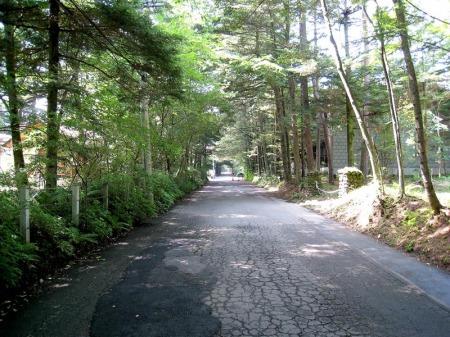 ホテル裏の道