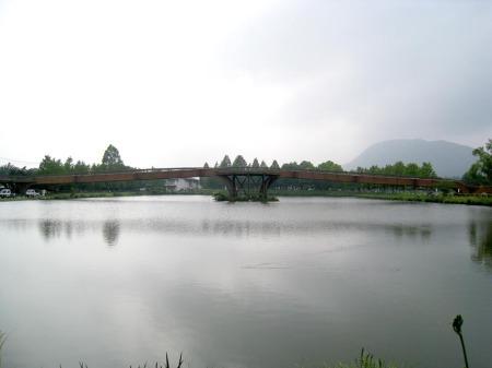 矢ケ崎公園木造橋