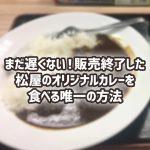 まだ遅くない!販売終了した松屋のオリジナルカレーを食べる唯一の方法